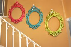 spray painted frames