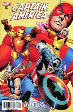 COMIC BOOK: Captain America # 697 Vol VIII (Cover B Avengers Variant). PUBLISHER: Marvel Comics. WRITER(S) Mark Waid. ARTIST: Chris Samnee. COVER ARTIST: John Cassaday. ORIGINAL RELEASE DATE: 1 / 3 / 2017. COVER PRICE: $3.99. RATING: Teen +.