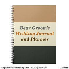 Simplified Bear Pride Flag Groom Journal & Planner