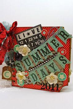 Summer Mini Album designed by Arlene + video on how she created the album too.