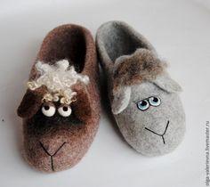 ♡ Купить Тапко-овцы. - серый, тапки, тапки из войлока, тапки валяные, тапки из шерсти