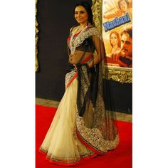 Bollywood Designer Rani Mukharjee Net Fabric Saree HEL1209