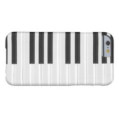 Black And White Piano Keyboard Barely There iPhone 6 Case