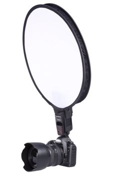 Giving your subject a softer even tone has never been easier!!! A portable light modifier. When used on top of small DSLR speedlite flashes, it creates soft directional light that is perfect for situa