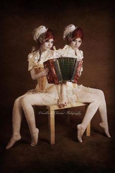 Siamese twin accordion