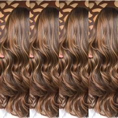 Brown Hair Balayage, Hair Highlights, Brown Blonde Hair, Brown Hair Shades, Light Brown Hair, Hair Color Caramel, Colored Curly Hair, Hair Color And Cut, Hair Affair