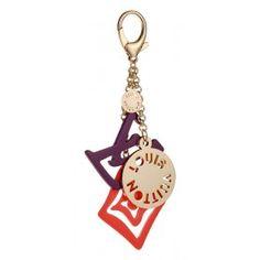 Louis Vuitton Replica Purple LV Logo Brass Bag Charm -$24