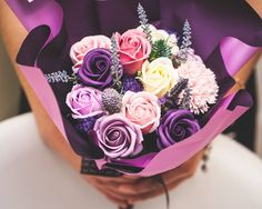 """- dozen roses soap flowers assorted color flowers. - Measures appoximately 14""""(36cm) Length - Includes at least 1 different Bushes and Bushes will vary - ITEM # : M1628 - Price : $70 - Delivery : fee not included email us for detail of delivery #www.keziaherez.com #Order keziaherez@gmail.com #mother's day gift #happybirthday gift #valentinesday gift #soapflower #love #flower stagram #flower"""