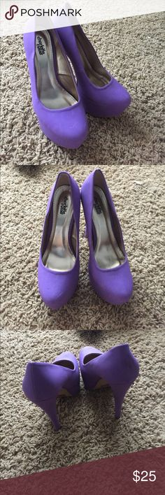 Charlotte Russe purple heels Size 8 Worn once, great condition Charlotte Russe Shoes Platforms