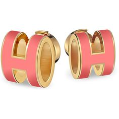 Hermès Pop H earrings ($370) ❤ liked on Polyvore featuring jewelry, earrings, earrings jewellery, earring jewelry, wood earrings, wooden earrings and wood jewelry