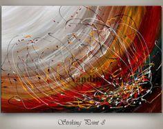 Large Canvas Wall Art, Large Artwork, Canvas Art, Eye Painting, Acrylic Painting Canvas, Art Original, Original Paintings, Encaustic Art, Wall Art Pictures
