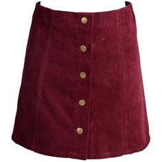 Choies Burgundy Velvet Button Front A-line Skirt (1.190 RUB) ❤ liked on Polyvore featuring skirts, red, burgundy skirt, knee length a line skirt, purple a line skirt, red skirt and purple velvet skirt