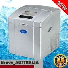 Portable Ice Cube Maker Machine Auto Silver 3.2L Quick Easy 20kg
