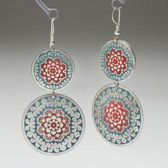 Embossed Flower Earrings - Earrings - Jewelry - Products