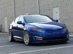 A pretty nice blue Kia Optima