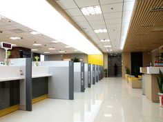 Bank teller stations google search reception ideas for Self bank oficinas