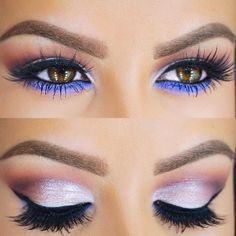 I always like eye looks for brown eyes that aren't just brown or black.