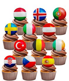 Baking Accs. & Cake Decorating Learned 80th Birthday Mens Football Themed Edible Cup Cake Toppers Decorations Precut Sale Price
