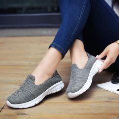 casual shoes women Mesh Loafers Soft Breathable slip-on Flat tenis feminino casual shoes ladies sneakers for women Plus Size 42 Outfit Accessories From Touchy Style Trendy Shoes, Casual Shoes, Comfortable Dress Shoes For Women, Sports Shoes For Girls, Girls Dress Shoes, Jeans With Heels, Slip On Shoes, Flat Shoes, Women's Shoes