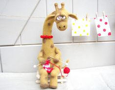 Felted animals - Felt doll - Soft sculpture - Collectible dolls - Unique toys - Needle felting - Felt toys - hand made toys - Gift for her