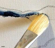 Canvas for painting with acrylics - Photo © Marion Boddy-Evans