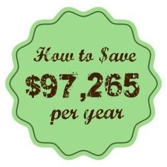How to Save $97,265 per Year - Cultivate Grace