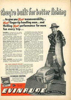 Vintage 1950 Evinrude Motors Print Advertisement  Vintage