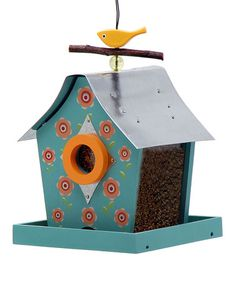 Take a look at this Flowers Retro Chic Bird Feeder by Rosso's International on #zulily today!  $22 !!