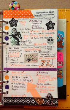 She's Eclectic: My week in my Filofax #44 - close up