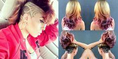Stylish hair tattoos for girls!