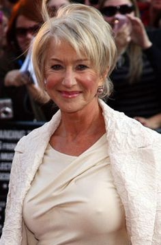 Helen Mirren, 66  ; she can teach us all a lesson - carry your smile with you always, you never see her without a genuine smile or cheeky grin. Infectious and youthful. One to copy.