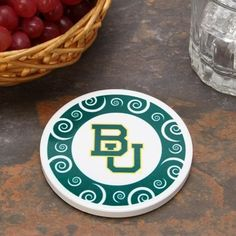 Baylor Bears Single Swirl Coaster // Very cute and subtle.