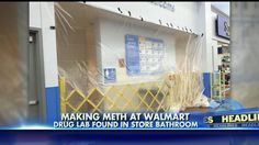 "A restroom at a #Walmart in Muncie, Indiana, has been closed indefinitely after an employee discovered a working #meth lab inside. According to police a man entered the restroom Thursday night with a backpack and left without it.  Police examined the backpack and determined that it was a miniature, active meth lab, containing the materials used to cook meth by the ""shake and bake"" or ""one-pot"" method..."