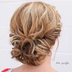 60 Creative Updo Ideas for Short Hair Curly Gibson Tuck Updo Short Hair Updo, Short Curls, Cute Hairstyles For Short Hair, Up Hairstyles, Braided Hairstyles, Curly Hair Styles, Natural Hair Styles, Updo Curly, Wedding Hairstyles