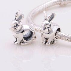 Coniglio dolce animale stile europeo 100% Argento sterling 925 adatta misure Pandora bead, Braccialetto europeo, Braccialetto Pandora T131 di OceanBijoux su Etsy