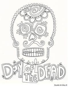 dia los muertos coloring sheets - Yahoo Image Search Results