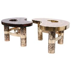 Arriau - Arts décoratifs - Coffee Table Beann - fractal resin and etched brass
