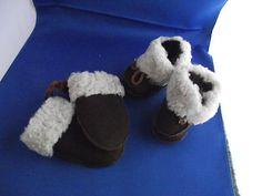On eBay Emu Baby Bootie Hi, Chocolate 0-6 Months