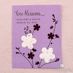 Seed Paper Love Blossoms Personalised Favour Card - Weddingstar