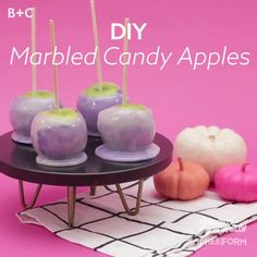 Nothing says Halloween like candy apples! Put a colorful twist on these witchy treats with our quick marbled candy apple tutorial.