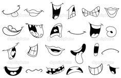 bocas animadas dibujadas - Buscar con Google