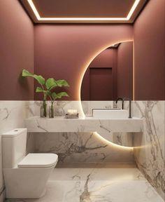 Washroom Design, Toilet Design, Bathroom Design Luxury, Modern Bathroom Design, Bad Inspiration, Bathroom Design Inspiration, Interior Inspiration, Design Ideas, Home Room Design