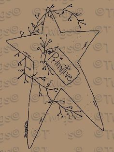 Free Printable Primitive Star Patterns
