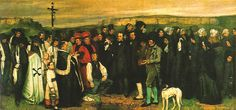 This is one of my very absolute favorites: Burial at Ornans, by Gustave Courbet. I love that every person painted looks as though they have a history.