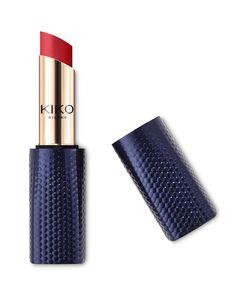 Buy the new creamy lipstick online: full coverage, shiny lips. Kiko Lipstick, Lipstick Colors, Liquid Lipstick, Lipsticks, Lime Crime, Pantone, Mascara, Metallic Eyeliner, Kiko Milano