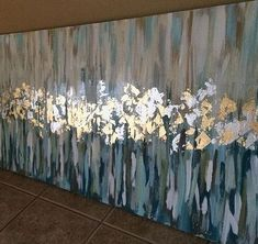 24x48+abstract+with+gold+leaf+by+ejhaworth85+on+Etsy
