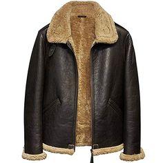 98105f886fa Men s Shearling Sheepskin Jacket Pilots Coat Men s Fur Coat Aviation  Leathercraft Flying Jacket Review Fur Jacket