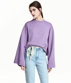 Wide-cut Sweatshirt | Purple | Women | H&M US