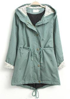 Green/mint womens jacket
