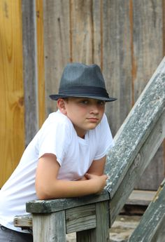 Joshua Photo Shoot With Fedora Hat